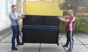 Опытные грузчики аккуратно перенесут и поднимут пианино на любой этаж
